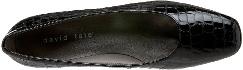 David Tate Womens Fresh Black Croco Patent