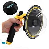 Vicdozia Telesin 6 inches Dome Port Lens Compatible with GoPro Hero7 Black/Hero6/Hero5/HERO(2018) Waterproof Housing Case Hand Floating Grip Trigger, Transparent Cover Underwater Diving Photography