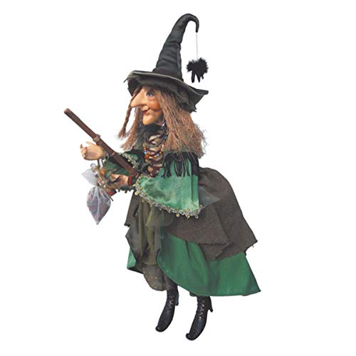 Witches of Pendle - Alice Nutter Witch Flying (Green) 24cm ()