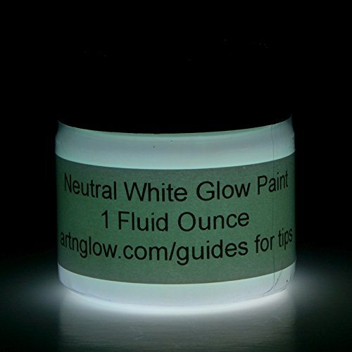 [Glow In The Dark Paint - Premium Artist's Acrylic - 1 Ounce (Neutral White)] (Doe Costume Diy)