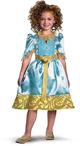Brave Merida Classic Costume, Auqa/Gold, X-Small