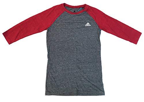 - adidas Women's 3/4 Sleeve Tri-Blend Raglan Supersoft Top Tee T-Shirt