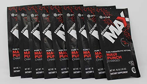 KETO//OS MAX Maui Punch CHARGED, Provides Sharp Energy Boost, Promotes Weight Loss and Burn Fats through Ketosis 9 sachets by Generic (Image #1)