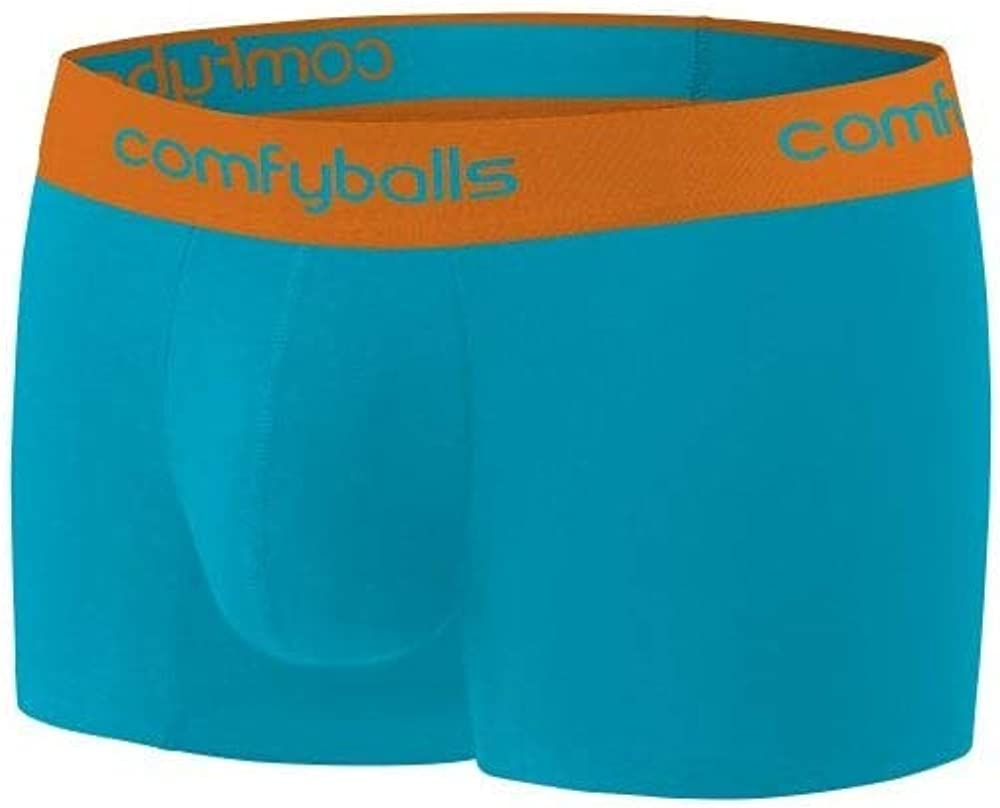Blue//Tangerine Comfyballs Microfibre Mens Boxer Trunk