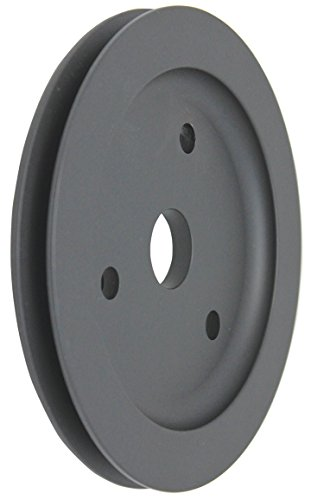 SBC Chevy 283-350 Black Aluminum SWP Single Groove Crankshaft (Groove Crankshaft Pulley)
