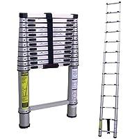 Inditradition 5.8 Meter (19 Feet) High Length Telescoping Ladder, Multipurpose Folding Step Ladder (Aluminium)