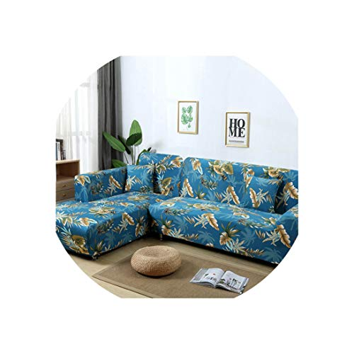 Sofa Coverl Shaped Sofa Cover Elastic Blue Sofa Covers for Living Room Couch Cover Sofa Slipcovers for Armchairs 1-4-Seater,Color 10,1-Seater(90-140Cm) (Karlstad Corner Sofa 2 3 3 2)