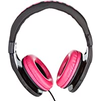 Hello Kitty 35509-blk Headphones with In-Line Mic Black