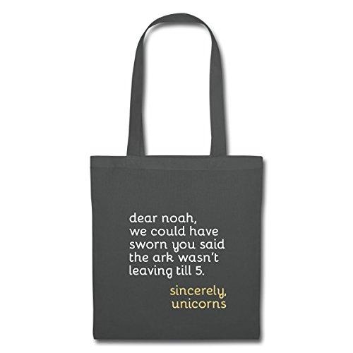 Spreadshirt Dear Noah Spruch Stoffbeutel Graphite 4SkoEgQE