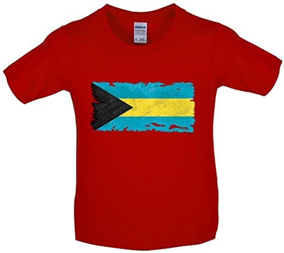 BAHAMAS, The Grunge Estilo Bandera - Infantil / Niños Camiseta - 10 Colores - Edad 3-14 AÑOS: Amazon.es: Ropa y accesorios
