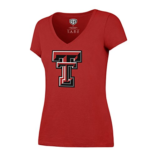 - NCAA Texas Tech Raiders Women's Ots Rival VNeck Tee, Large, Red