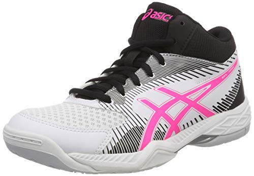 Pink Hot Volleyball Gel 100 Asics White Women's White Shoes Mt Task IwaxP8xzfq