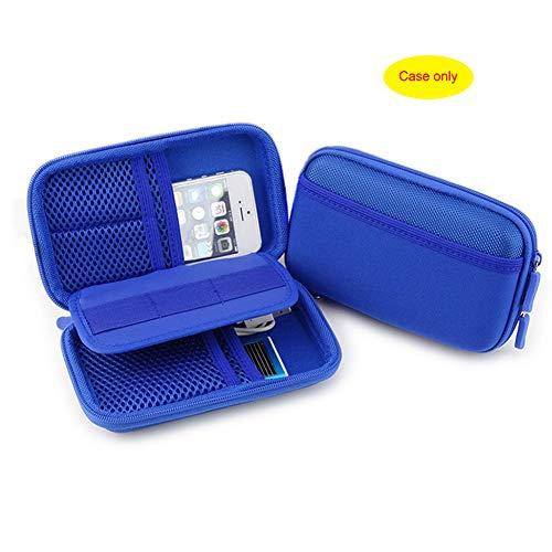 Diabetic Supply Travel Case Organizer Bag for Glucose Monitoring System, Blood Sugar Meter, Test Strips, Syringes, Needles, Pens, Lancets Device, Medication, Pills, Tablets Vials (Blue)