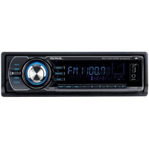 SOUNDSTORM US599 4 X 60-Watt CD/MP3/USB/SECURE Digital Card Receiver With Drop Down Detachable Face ()