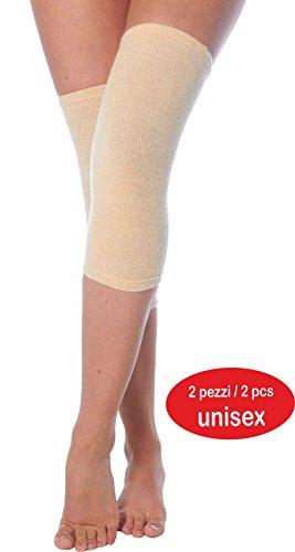 Knee warmer in Angora wool (2 pcs) (XXL, Mink) ()