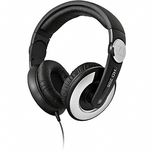 - Sennheiser HD 205-II Studio Grade DJ Headphones (Black/Grey)