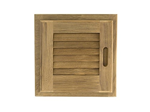 Whitecap 60721 Teak Louvered Door and Frame - 12