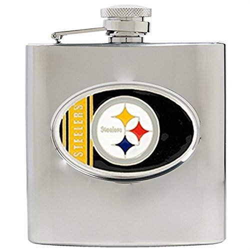 Great American Products NFL Pittsburgh Steelers 8oz Stainless Steel Hip Flas