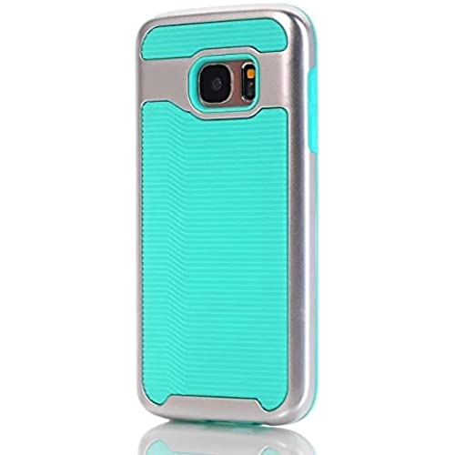 Samsung S7 Case, Haoshi Wavy 2 in 1 Armor Case Shockproof Drop Resistence Back Case for Samsung Galaxy S7 (PC+TPU, Mint Green) Sales