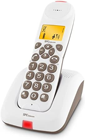 SPC Telecom 7123M - Teléfono fijo inalámbrico digital, color marrón: Amazon.es: Electrónica