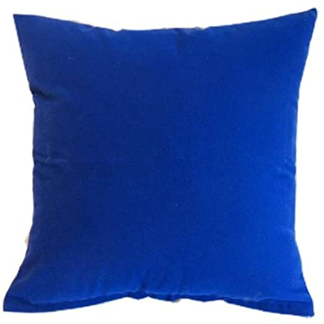 Amazon Royal Blue Solid Color Flocking Velvet Polyester