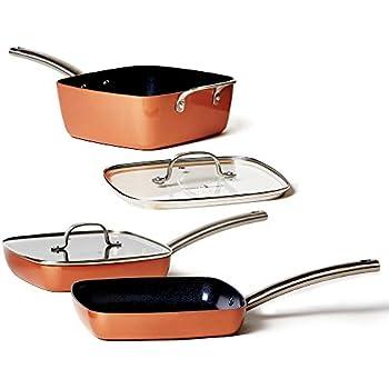 Amazon Com Copper Chef Stack Able Black Diamond 5 Piece