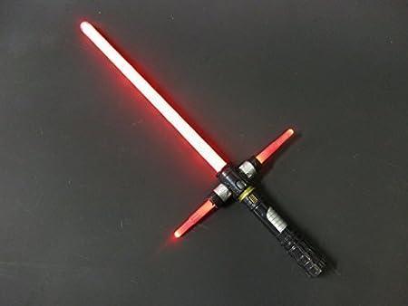 Blasts Villain Laser luz Espada/Sable iluminación LED & Sonidos Sensor de Movimiento Batalla Clash Sonidos Rojo
