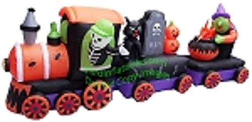 ghi Halloween Train Inflatable w/Skeleton, Witch and Black -