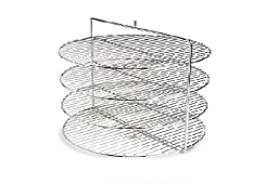 Nemco Food Equipment Heavy Gauge Wire Four Tier Rack System Only, 18 inch Dia...