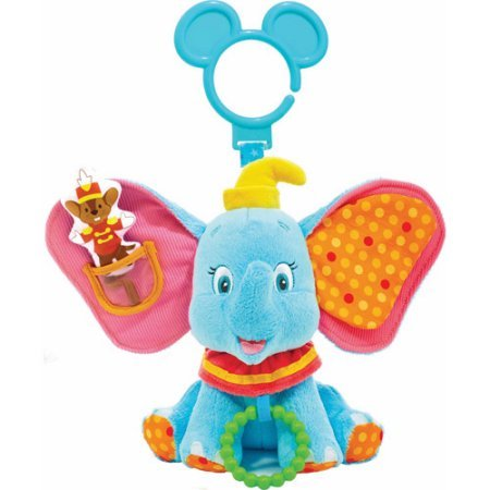 Baby Dumbo Activity Toy Features a Squeaker and Chime by Disney