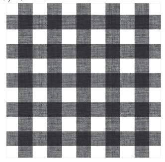 Black/White Buffalo Plaid Woodland Plaid 12x12 Scrapbook Paper - 4 Sheets