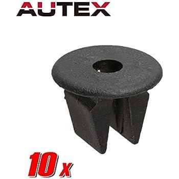 10x Nylon Moldings Exterior Trim Panel Clips Rivet Retainer for Toyota Corolla