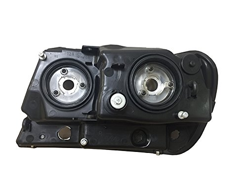 HEADLIGHTSDEPOT Compatible with Fleetwood Discovery 2007-2013 Motorhome RV Black Front Headlights Set