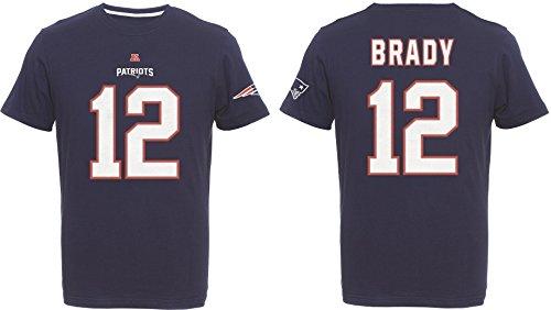 New England Patriots Tom Brady #12 T-Shirt, L