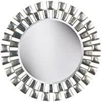 kenroy home gilbert wall mirror with silver finish 36 inch diameter - Home Decor Mirrors