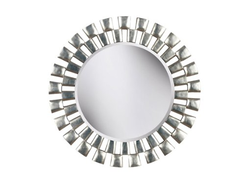 Kenroy Home Gilbert Wall Mirror with Silver Finish, 36-Inch Diameter (Round Mirror Silver)