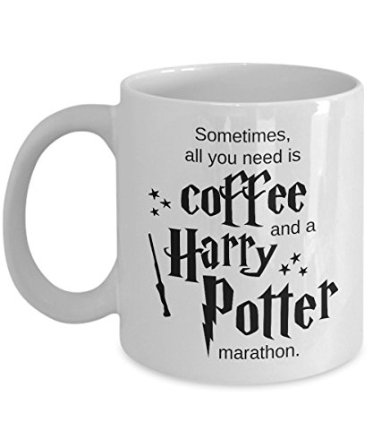 Coffee and a Harry Potter Marathon - Ceramic Mug - Unique Funny Harry Potter Themed Fan Gift