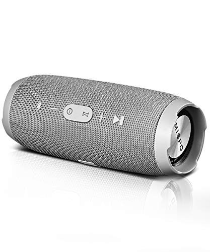 MISPO Portable Wireless Bluetooth Speakers Waterproof with Mic, Outdoor HD Audio 6W,Hands-Free Calling,TF Card Slot,Grey