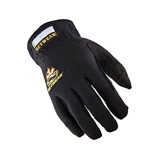 - SetWear EZ-Fit Gloves, Pair Medium (Size 9) Approximatly 3.5-4