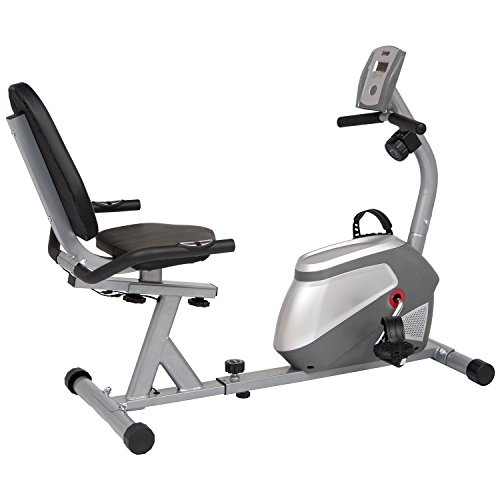 Body Champ BRB852 Magnetic Recumbent Exercise Bike, Black/Silver