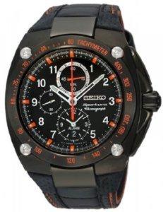 Mens Watch Seiko SNAE37 Sportura Black Sportura Quartz Alarm Chronograph (Sportura Alarm Chronograph)