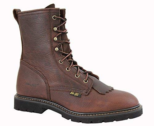 Adtec Mens Chestnut 9in Lacer Work Boots Leather Packer 7 M (Work Casual Boots Lacer)
