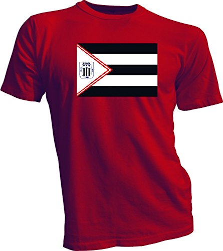 fan products of ALIANZA LIMA Peru Futbol Soccer Flag Banner RED T-SHIRT Camiseta NEW Size s-4x