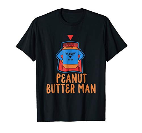 Peanut Butter Man Superhero T Shirt Jelly Foodie Lover Gift