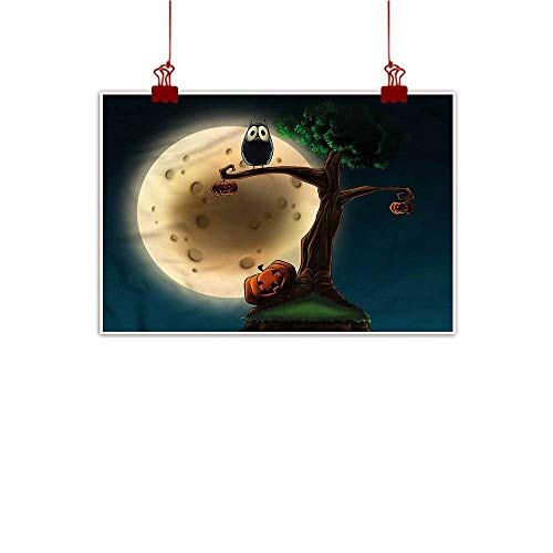 Mangooly Wall Painting Prints Halloween,Spooky Tree with an Owl 20