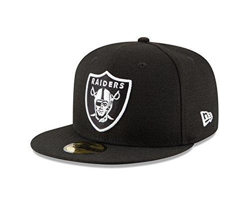 New Era Stock - New Era NFL Oakland Raiders Men's 59Fifty Fitted Cap, 7.125, Black