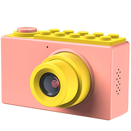 Camera Pack Play - TURN RAISE Kids Camera Toys Gifts for 3~10 Years Old Girls,Shockproof Kids Camera Mini Toddler Digital Camcorders with Soft Silicone Shell for Outdoor Play,Pink