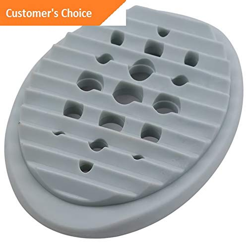 Hebel Silicone Flexible Soap Dish Plate Bathroom Soap Holder Soapbox Plate Tray Box J | Model SPDSHS - 100 |