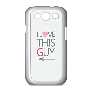 AKERCY I Love This Girl and Guy Couples She¡¯s My Best Friend Phone Case For Samsung Galaxy S3 I9300 [Pattern-2]