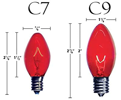 Lee Display C-7 Red Clear Steady Bulbs 1 Boxes of 25 C7 Red Steady Bulbs